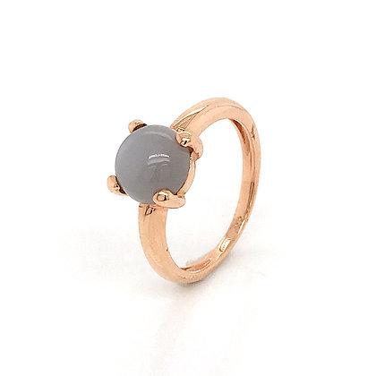 Sortija garras piedra gris de oro rosa 265-00317