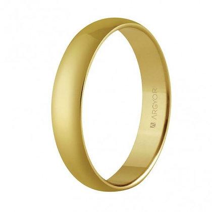 Alianza de boda en oro clásica confort 4mm (5640001)