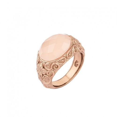 ca4b471fad72 Anillo SUNFIELD de plata con baño de oro rosa