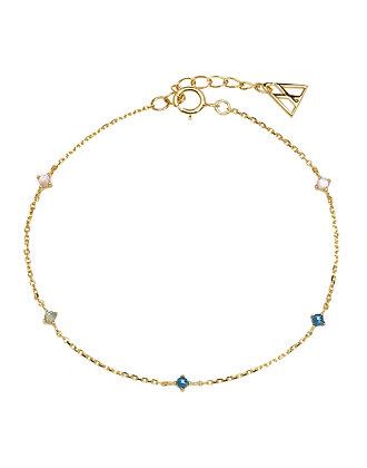 Pulsera navy gold indigo collection PU01-054-U