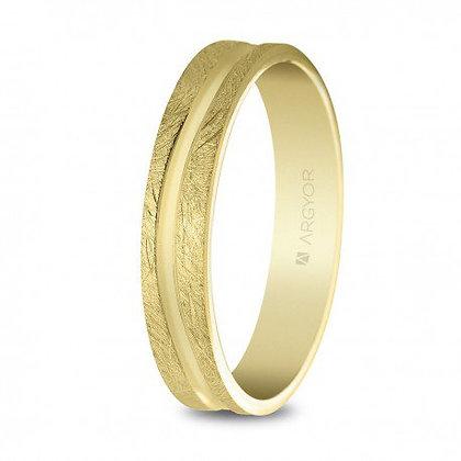 Alianza de boda oro 4mm acabado hielo (5140511)