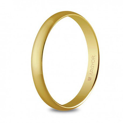 Alianza de boda oro amarillo clásica 3mm (50305)