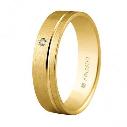 Alianza de oro y diamante de 5mm confort (5150316D)