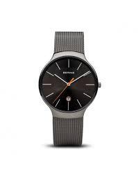 Reloj clásico de hombre gris con fecha 13338-077