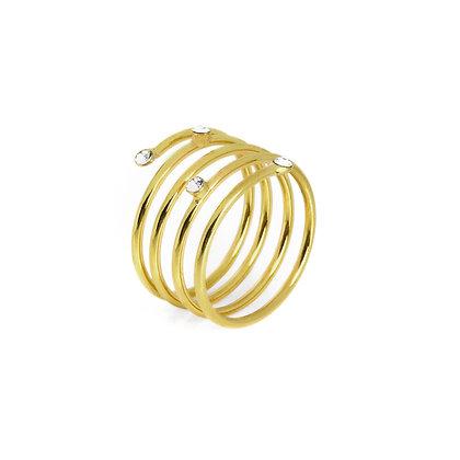 Anillo Iris Crystal dorado - A3581-07DA