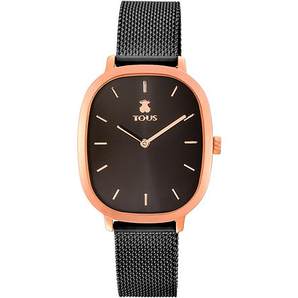 Reloj Heritage de acero IP rosado/IP negro - 900350405