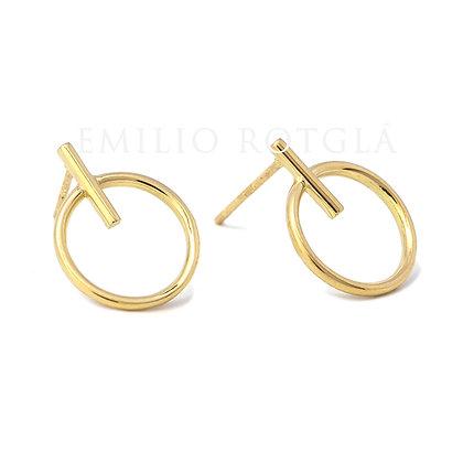 Pendientes círculo oro amarillo EMPT45904