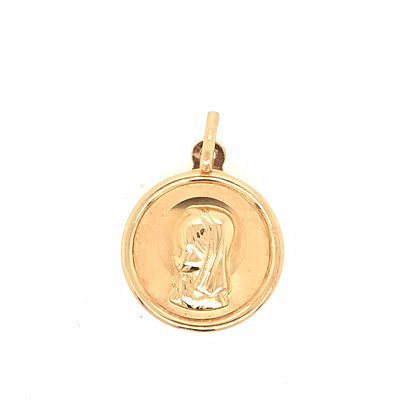 Medalla Virgen niña oro 24939