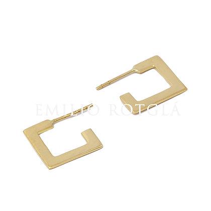 Pendientes cuadrado oro amarillo EMPT6519