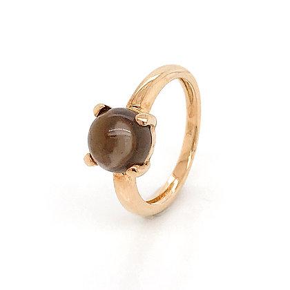 Sortija garras con piedra marrón 265-00316