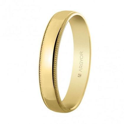 Alianza de oro brillo y facetas 4mm (5140512)