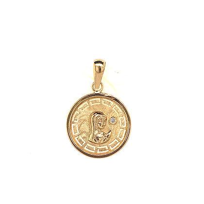 Medalla Virgen niña oro 6P00160