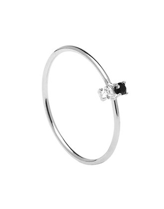 Pdpaola anillo carbon silver city play collection AN02-106