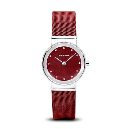 Reloj malla clásico mujer rojo 10126-303
