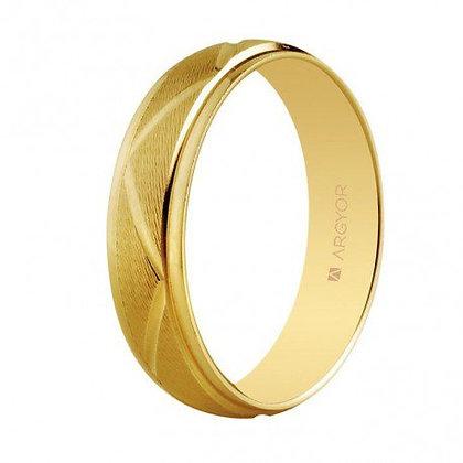 Alianza de boda en oro diseño zigzag 5mm (5150138)