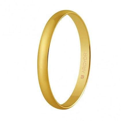 Alianza de boda oro media caña clásica de 2,5mm (50253)