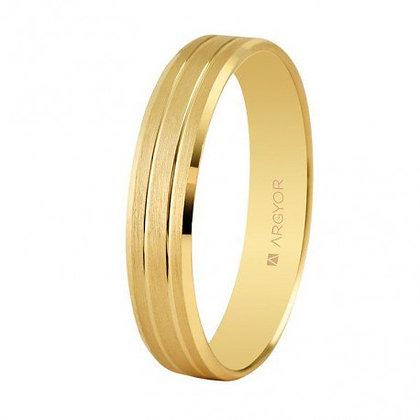 Alianza de boda oro satinada-brillo 4mm (5140436)