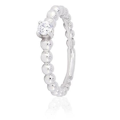 Sortija Oro Blanco y Diamantes 399812h