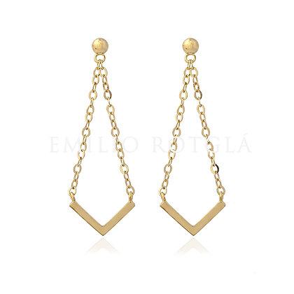 Pendientes de oro colgantes EM PT45868