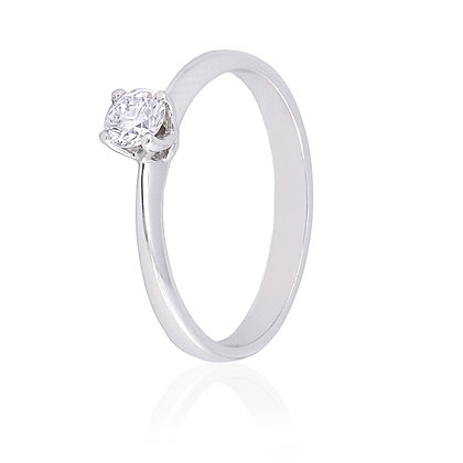 Solitario oro blanco diamante 387812