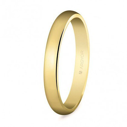 Alianza de boda clásica oro media caña 3mm (50306)