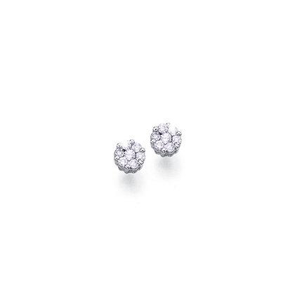 Pendientes oro blanco y diamantes BRI.00343