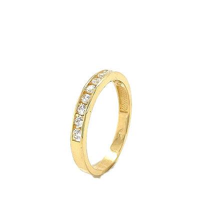 Anillo circonita oro - Ref: 636-00492
