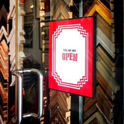 Shop sign design