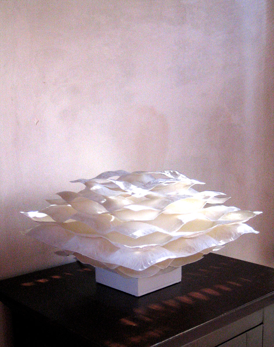 Washi lamp design