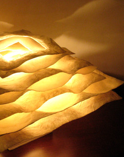 Washi lamp design