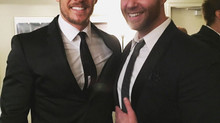 Caught up with my scene partner Alan Ritchson!