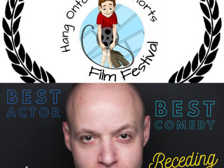 Nominated for BEST ACTOR in Receding!