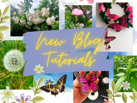 A Floral Summer! New Blog Tutorials