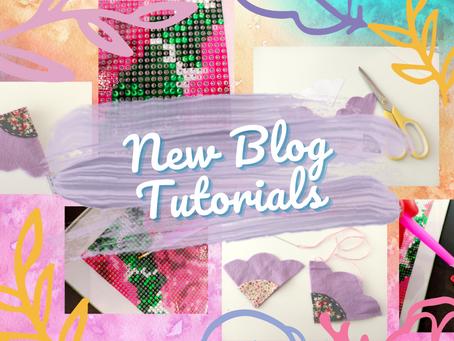 Diamond Painting and Flower Bookmarks: New Blog Tutorials