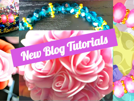 Floating Flowers and Bead Bracelets: New Blog Tutorials