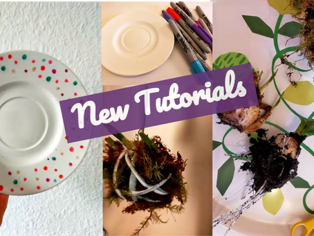 Plate Art and Moss Hangers: New Blog Tutorials