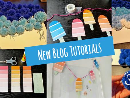 Pom Poms and Popsicles: New Blog Tutorials