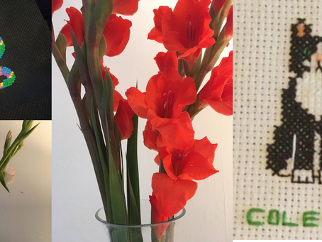 Cross Stitch and Flower Arranging: New Blog Activities