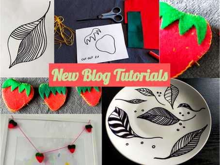 Felt Strawberries and Leaf Plates: New Blog Tutorials