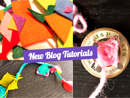 Colourful Garlands and Spool Knitting: New Blog Tutorials