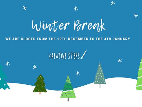 Winter Break Closure Dates