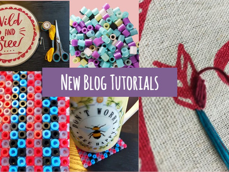 Embroidery and Bead Coasters: New Blog Tutorials