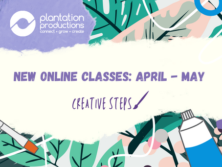 New Online Class Schedule: APRIL - MAY