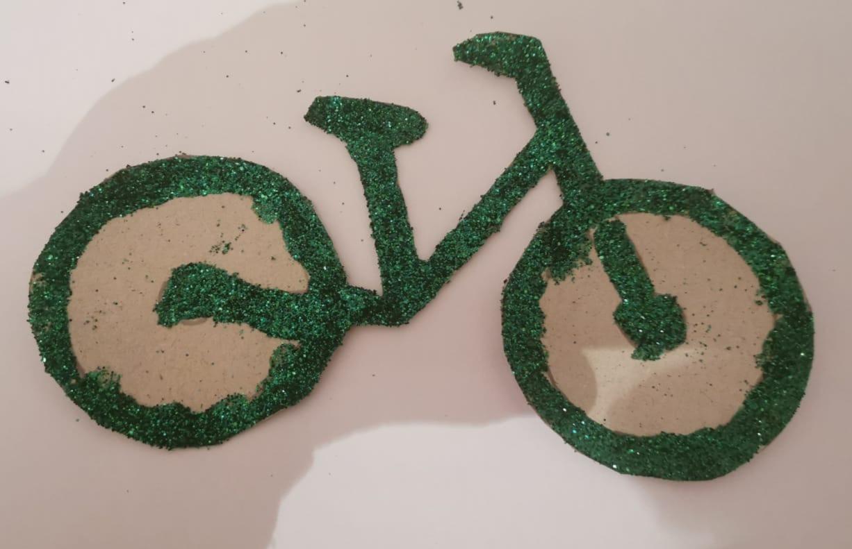 Green Glitter Bike