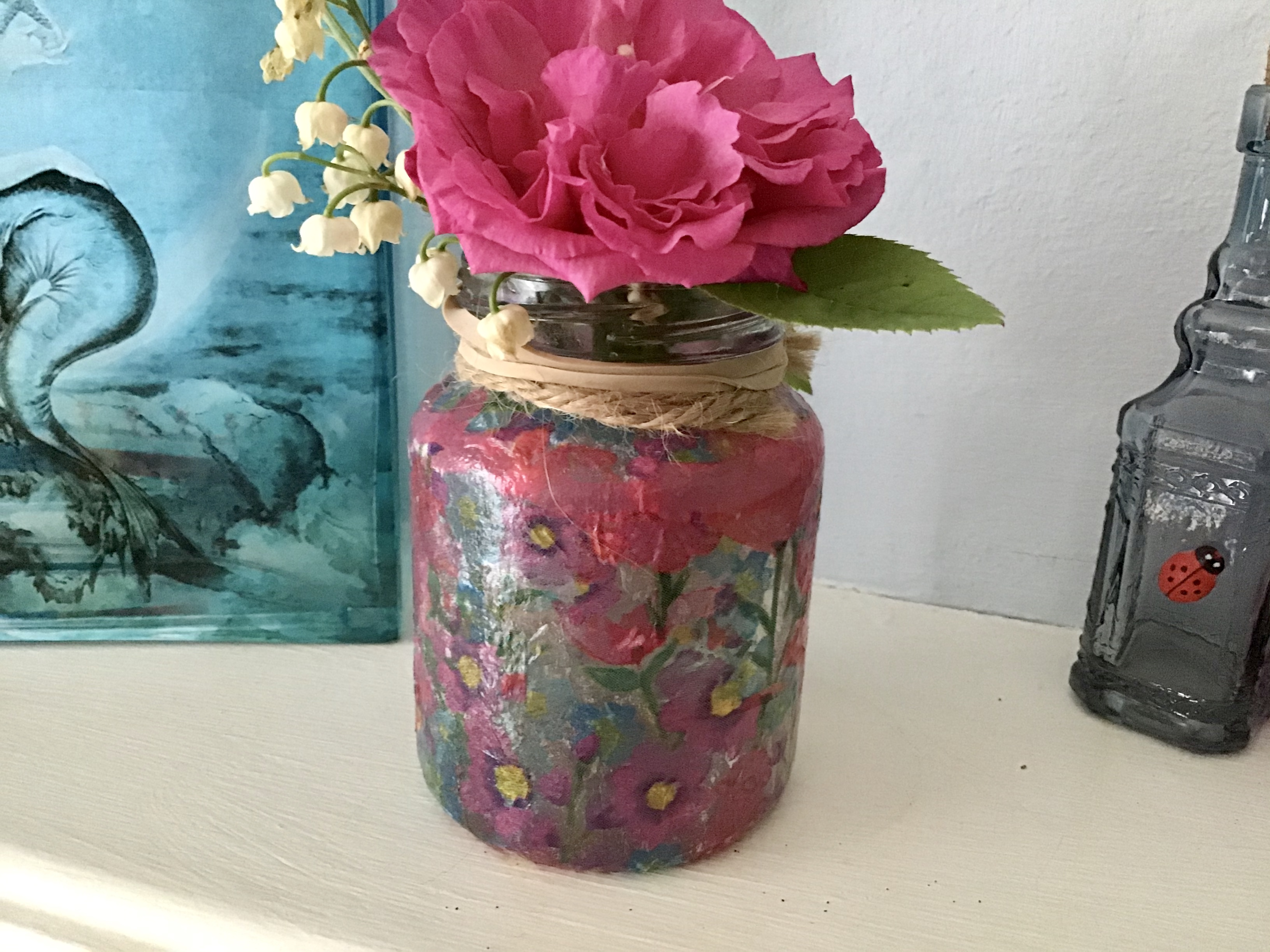 Decoupage Jar