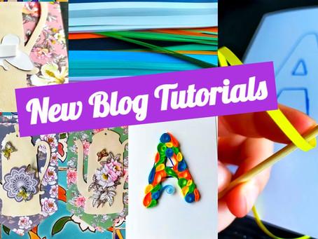 Party Paper Crafts! New Blog Tutorials