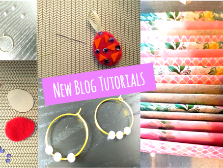 Earrings and Easter Eggs: New Online Tutorials