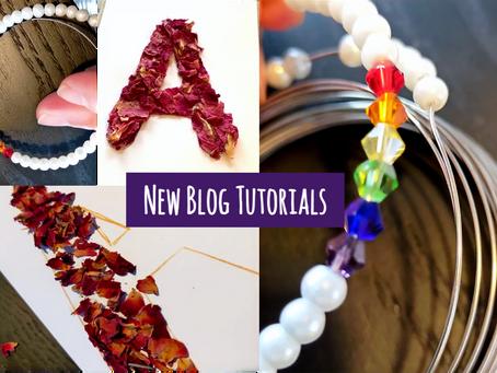 Petals and Pearls - New Blog Tutorials