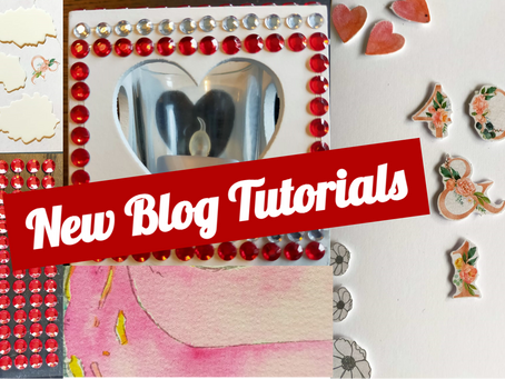 Candle Crafts and Collage Cards: New Blog Tutorials