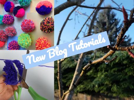 Nature Blogs and Pom Pom Decorations: New Tutorials